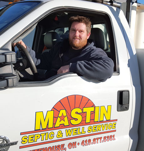 Mastin Septic Systems and Water Well Service owner Cody Mastin